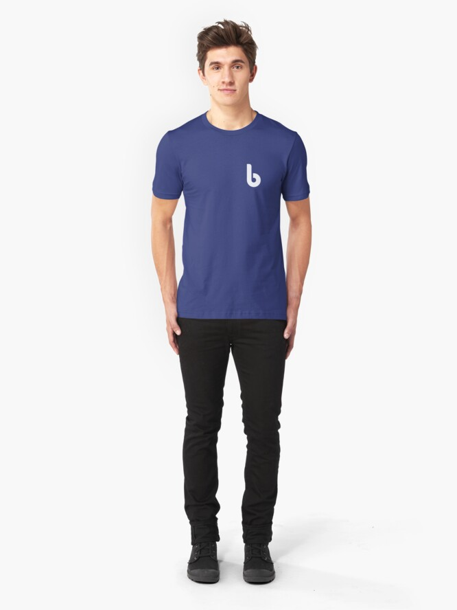 Alternate view of Bits Logo Small Slim Fit T-Shirt