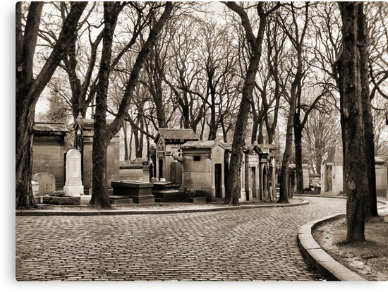 Paris - alley at the Pere Lachaise's cemetery by jean-louis bouzou