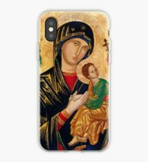 Our Lady of Perpetual Help, Russian orthodox icon, Madonna and Child, Virgin Mary  iPhone Case