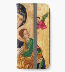 Our Lady of Perpetual Help, Russian orthodox icon, Madonna and Child, Virgin Mary  iPhone Wallet/Case/Skin