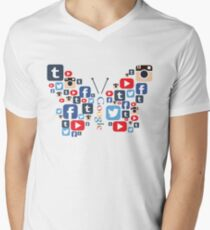 Social Butterfly Men's V-Neck T-Shirt