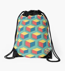 Isometric Cube Drawstring Bag