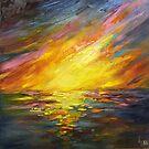 Fiery sunset by Ivana Pinaffo