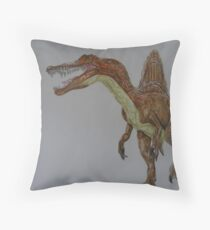 Spinosaurus Throw Pillow