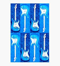 Blue Stratocaster - Electric Guitar #5 Photographic Print