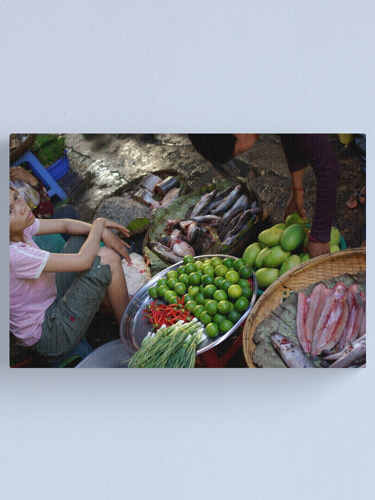 Alternate view of The Russain Market Canvas Print