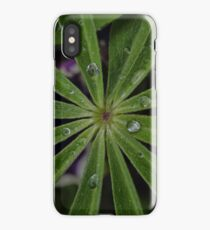 Wet lupin leaf iPhone Case