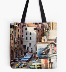 Pittura Riomaggiore II Tote Bag