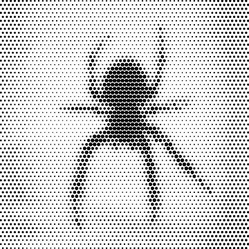 Spider [halftone edition] by Escarpatte