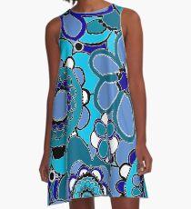 Blue Flowers A-Line Dress