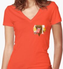 Summer Fun With Ice Cream Women's Fitted V-Neck T-Shirt