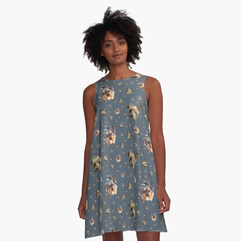 Yorkie stars A-Line Dress
