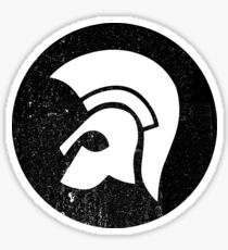 Trojan (Black)  Sticker