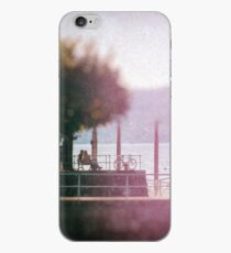 Chatting by the lake iPhone Case