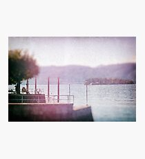 Chatting by the lake Photographic Print