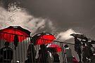 Red Umbrellas by photosbyflood