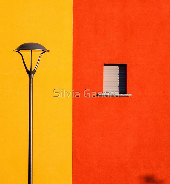 Street lamp, window and wall by Silvia Ganora
