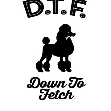 DTF Down to Fetch Funny Poodle Edition by sphericalearth