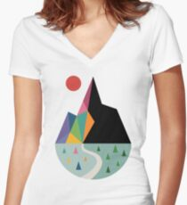 Angenehme Seite Shirt mit V-Ausschnitt
