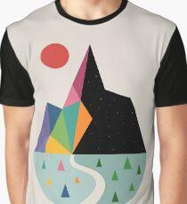 Angenehme Seite Grafik T-Shirt