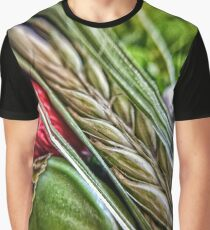 Spike Barley and Poppy Closeup Graphic T-Shirt