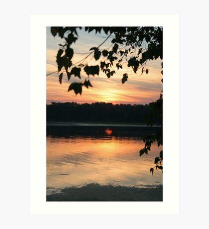 Mississippi sunset Art Print