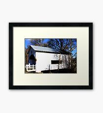 Neal Lane Covered Bridge Framed Print