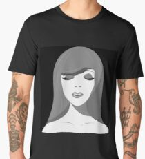 The face of a girl in the style of pop art Men's Premium T-Shirt
