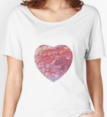 Heart shaped Fluid Abstract Painting Women's Relaxed Fit T-Shirt