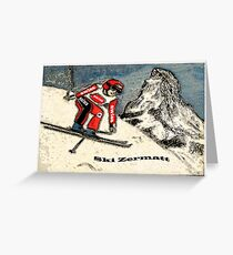 Ski Zermatt Greeting Card