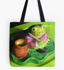 Fishing Froggie Tote Bag