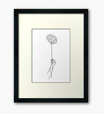 Brain. Gerahmtes Wandbild