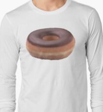 Chocolate Frosted Donut Long Sleeve T-Shirt