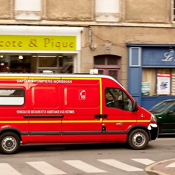French Fire Truck Emergency Vehicle by Buckwhite