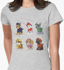 PAW Patrol Characters Women's Fitted T-Shirt