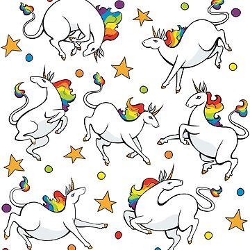 Rainbow Unicorn Party by kathuman