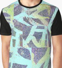 9. Street Abstract invertiert blau Grafik T-Shirt