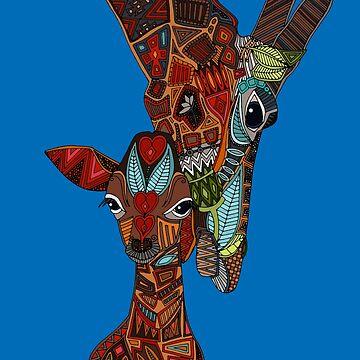 Giraffenliebe blau von scrummy