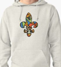 New Orleans abstract stained glass Fleur De Lis Pullover Hoodie