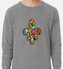 New Orleans abstract stained glass Fleur De Lis Lightweight Sweatshirt