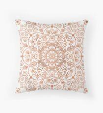 Moroccan Mandala – Rose Gold Throw Pillow