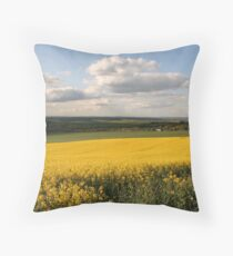 Oilseed crops Throw Pillow