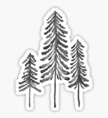 Pine Trees – Black Ink Sticker