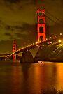 Golden Gate Night Lights by photosbyflood