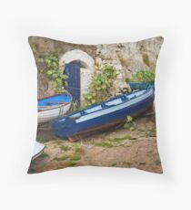 Wooden Boats Throw Pillow