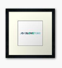 trendy romantic love inscription. valentine's day colourful lettering Framed Print