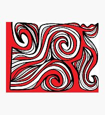 Gronstal Abstract Expression Red White Black Photographic Print