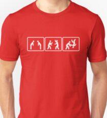Aikido Flip Technique Slim Fit T-Shirt