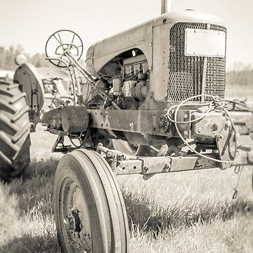 Vintage Tractor Sepia Toned by peanutroaster