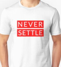 Never Settle OnePlus Red Unisex T-Shirt
